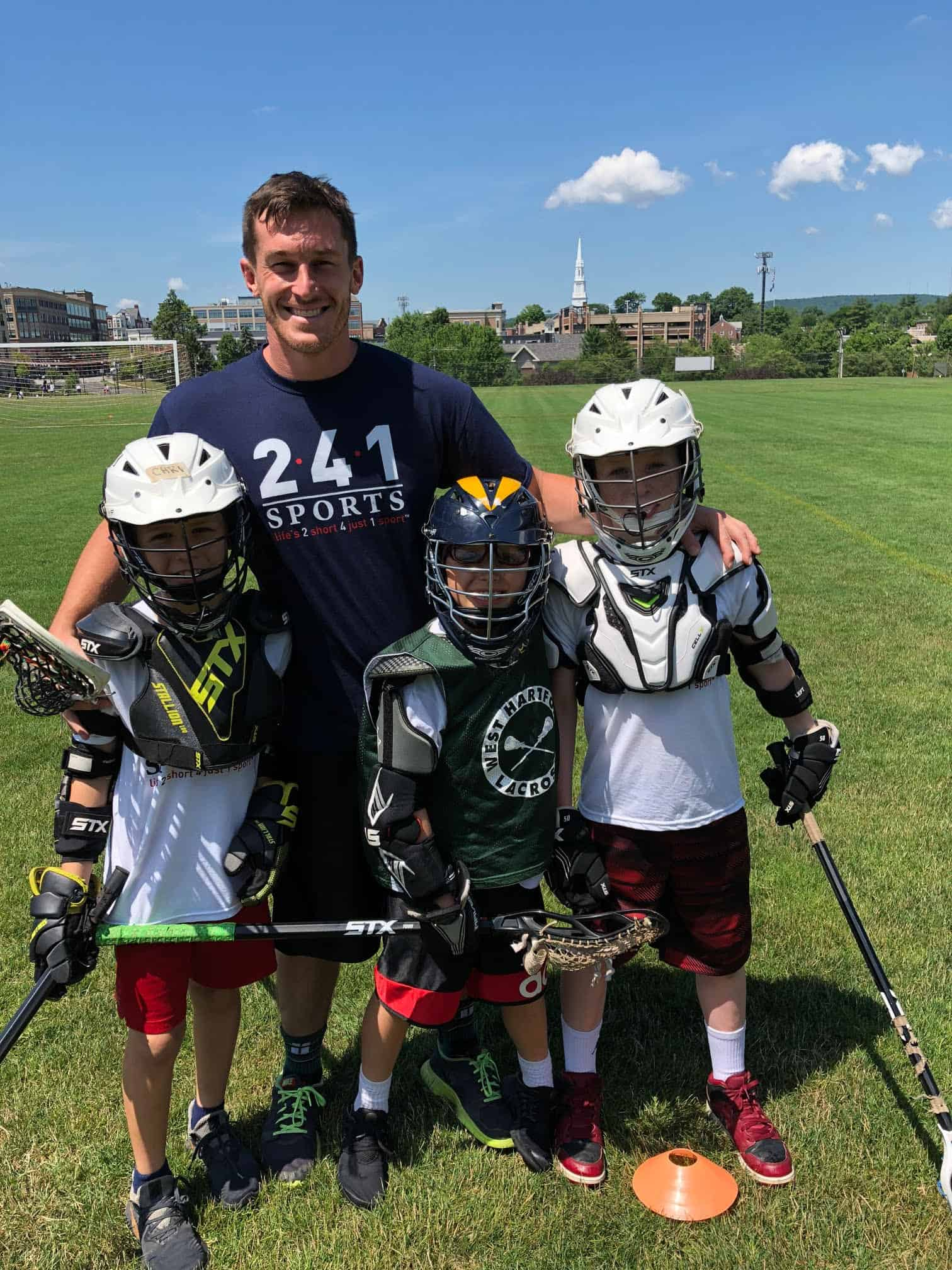 Boys at Summer Camp lacrosse
